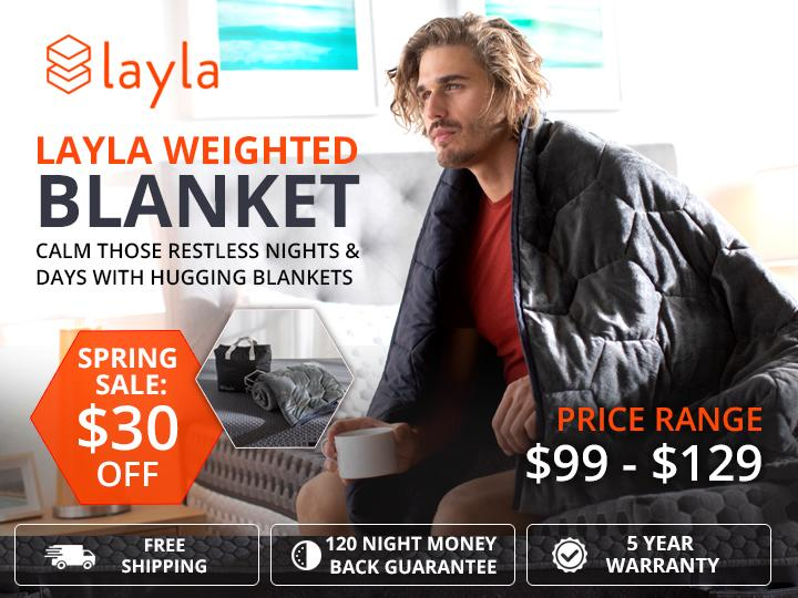 Image - Spring Sale!! Get $30 Off on Layla #WeightedBlankets. Its a trusted tool for improving sleep quality and reli...