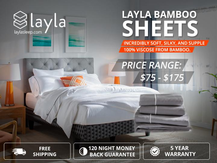 Image - Layla Sleep has the best shockingly soft, supple and silky Bed Sheets. Sheets made from 100% viscose from bam...