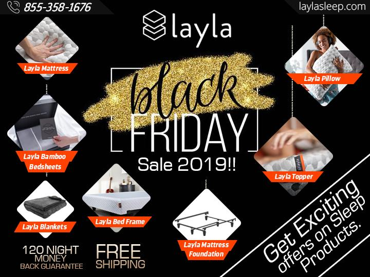 Image - On this #BlackFridaySale, get exciting offers on Layla Sleep Products. Layla Sleep provides a high-quality ma...
