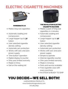 Image - The automatic Powermatic 3 or Powermatic 3 (III) Electric Cigarette Rolling Machine at Hardworking Products i...