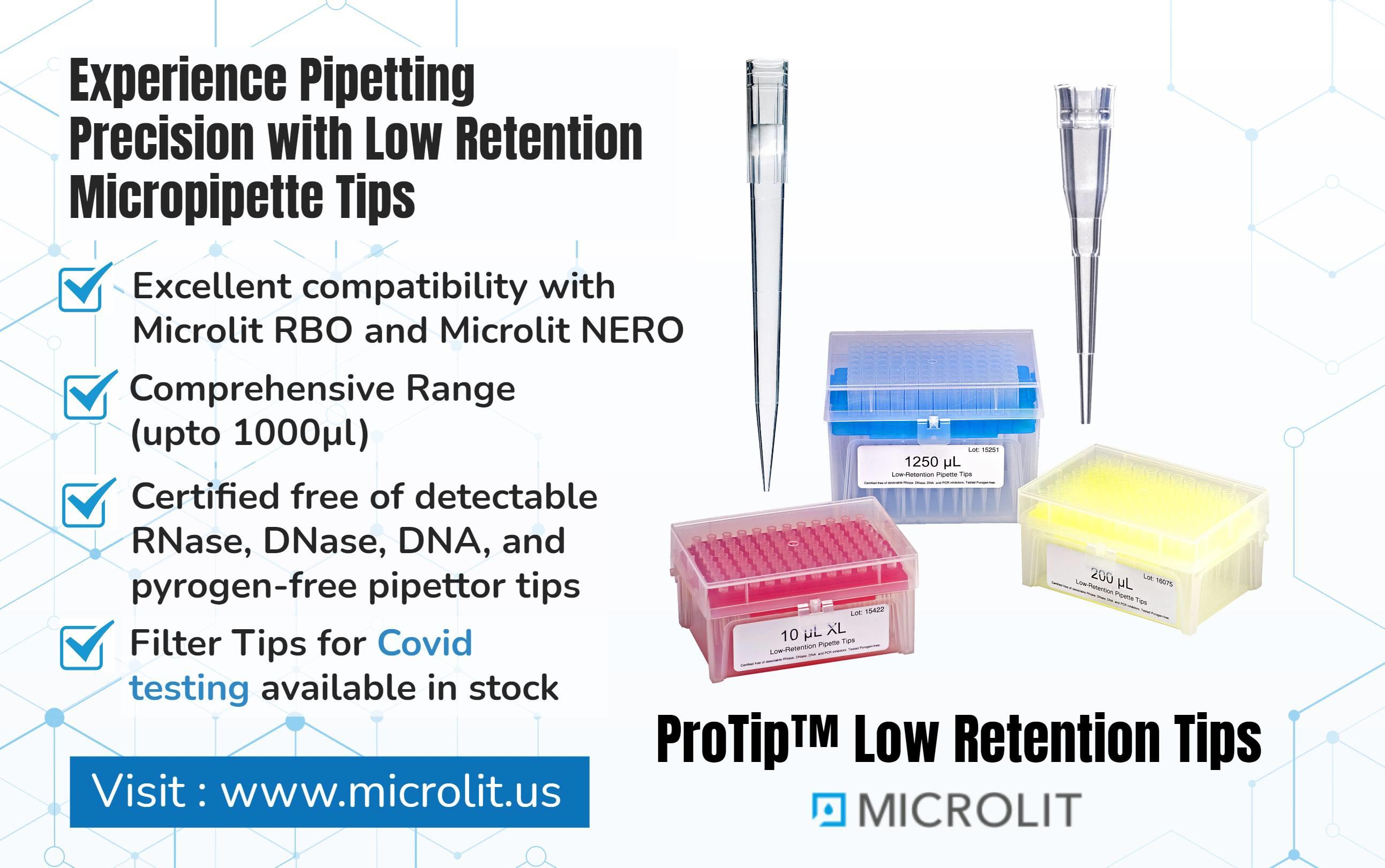 Image - Microlit offers the best quality low retention #PipetteTips that is compatible with all kind of micropipettes...