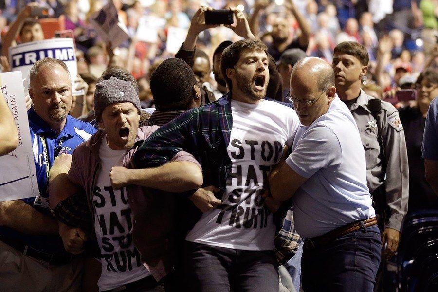 #Violence  at Trump rallies   #Rhetoric   #ReapWhatYouSow
